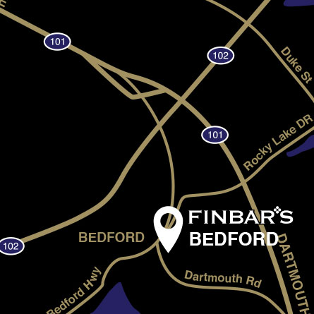 Finbar's Bedford map