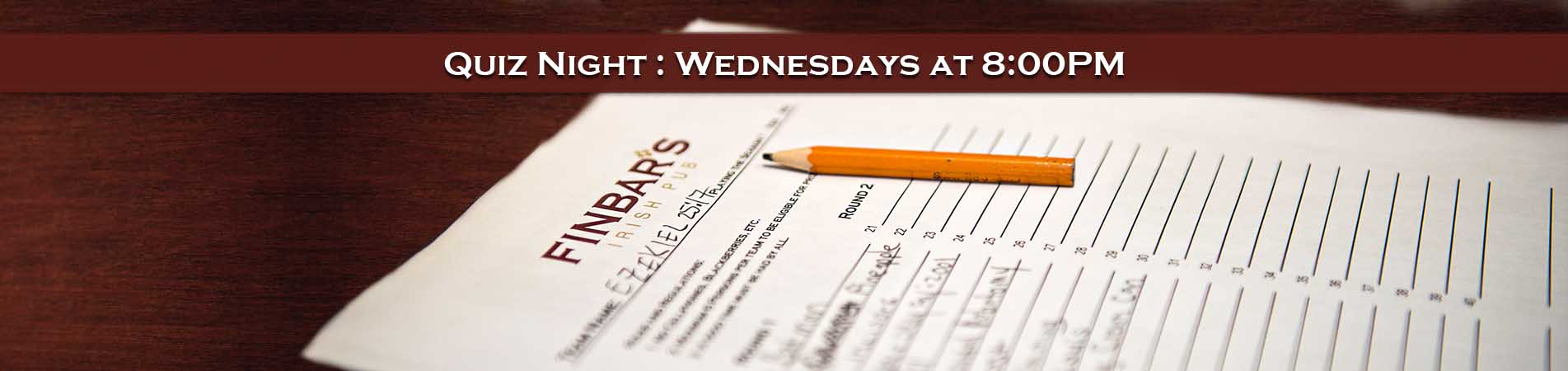 Quiz Night - Wednesdays at 8:00PM